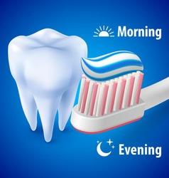 Brushing teeth vector