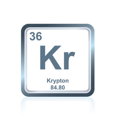 Chemical element krypton from the periodic table vector