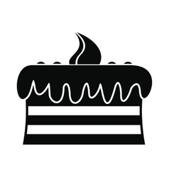 Chocolate cake icon vector image vector image