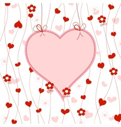 cute heart frame vector image vector image
