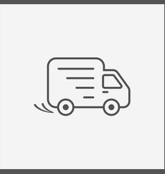 Delivery car shipping icon vector