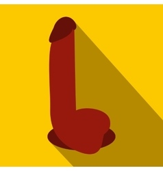 Dildo sex toy icon flat style vector image vector image