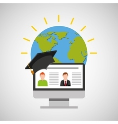 education online global video conference vector image