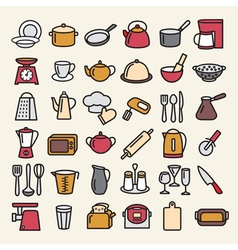 Kitchenware lline vector