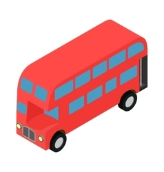 London double decker red busicon vector