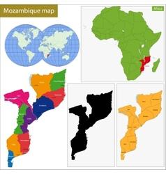 Mozambique map vector image
