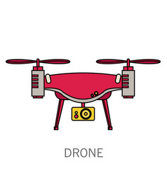 Quadcopter simple icon on white background vector