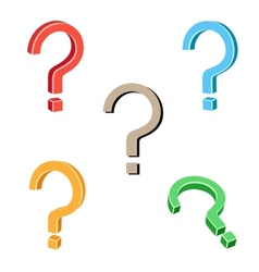 Question symbol vector image