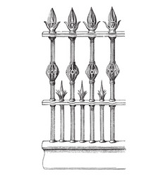 Railing is made out of wrought iron interior vector