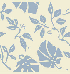 Seamless wallpaper with plants vector