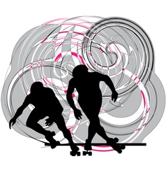 Skater in action vector image