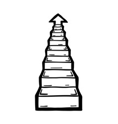 stairs go up vector image vector image