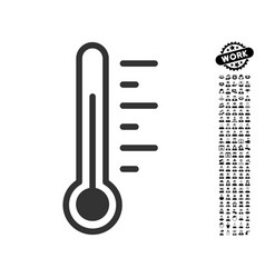 Temperature level icon with men bonus vector