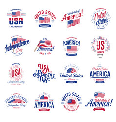 united states of north america logos vector image vector image