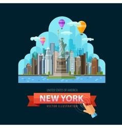 USA logo design template New York city or vector image vector image