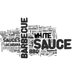 White barbecue sauce gourmet bbq sauce at it s vector