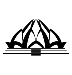 Lotus temple architecture vector