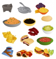 Latin american food vector