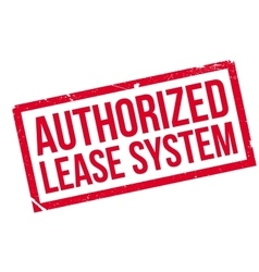 Authorized lease system rubber stamp vector