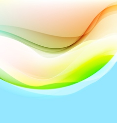 Translucent colors curve vector