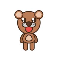 cute bear toy kawaii image vector image