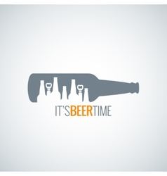 beer bottle city concept design background vector image