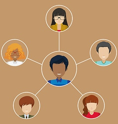A man with many networks vector