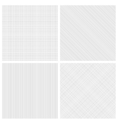 Set of monochrome hatch seamless patterns vector