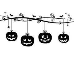 Hanging pumpkins vector