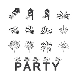 Firework icon set vector