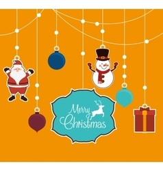 Merry christmas colorful card vector