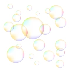 Transparent colorful foam bubbles vector