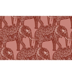 Seamless pattern with stylized ornamental vector image