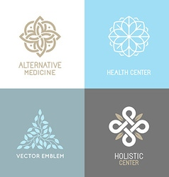 Set of abstract logos vector