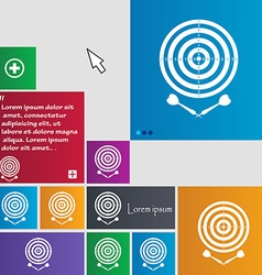 Darts icon sign buttons modern interface website vector