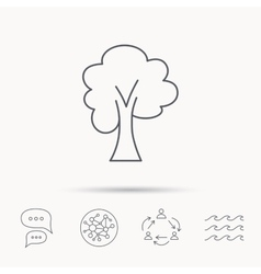 Maple tree icon forest wood sign vector