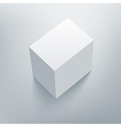 Blank isolated box mockup with shadow 4 vector