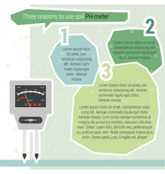 Three reasons use ph meter vector