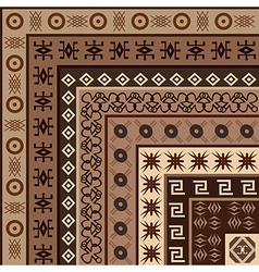 African motifs background vector