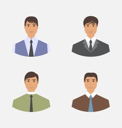 Avatar set front portrait office employee vector image vector image