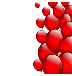 Background with red balloons vector image vector image