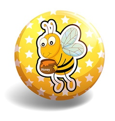 Badge and bee vector image vector image