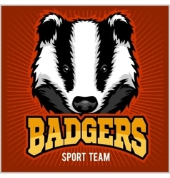 Badger sport team logo vector