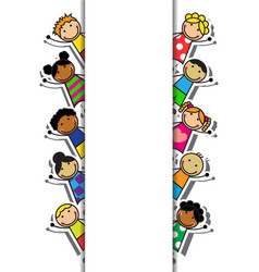 Cartoon background with children vector