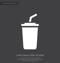 coffee premium icon white on dark background vector image