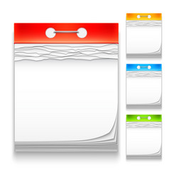 color calendars icons vector image