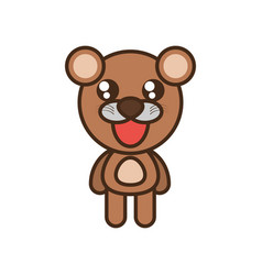 Cute bear toy kawaii image vector