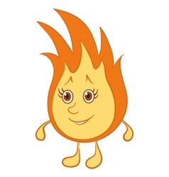 fire smiley vector image vector image