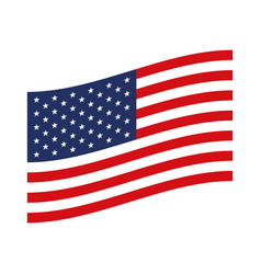 Flag united states of america flat design to side vector