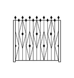 High garden metal latice fencing design vector